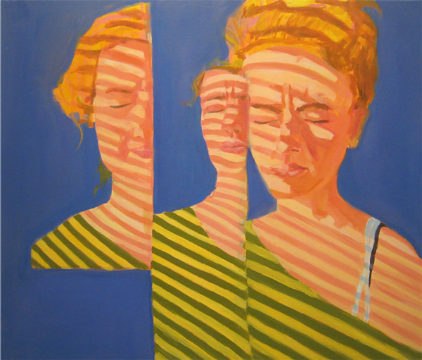 Women with Stripes painting by Sophia Peters